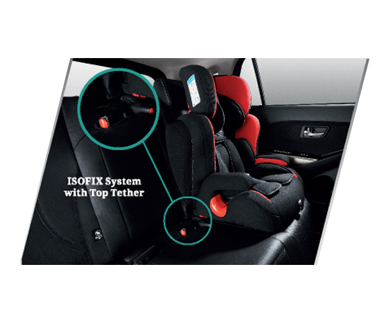 ISOFIX System with <br /> top Tether